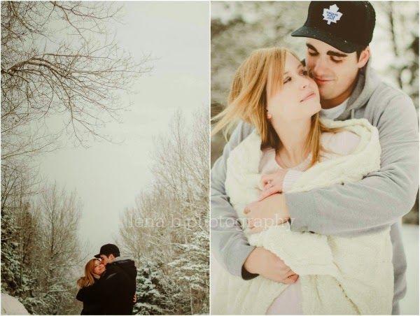 Lena B Photography: tim & ashley - winter engagement