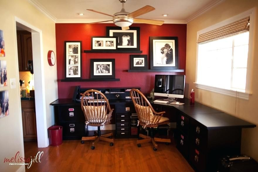 pin by kaylee on dad s office in 2020 home red accent on office accent wall color id=68488