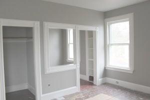 60 West Main Street Blog Grey Walls White Trim Living Room