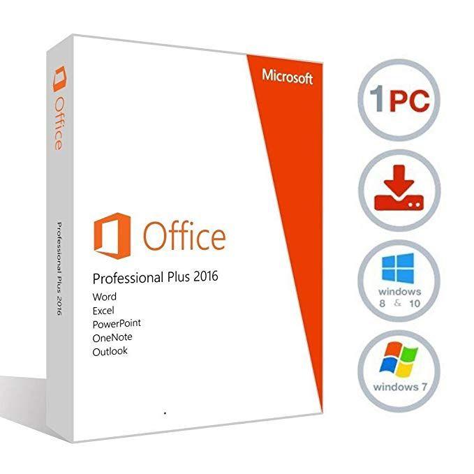 MICROSOFT OFFICE 2016 PROFESSIONAL PLUS FOR WINDOWS PC