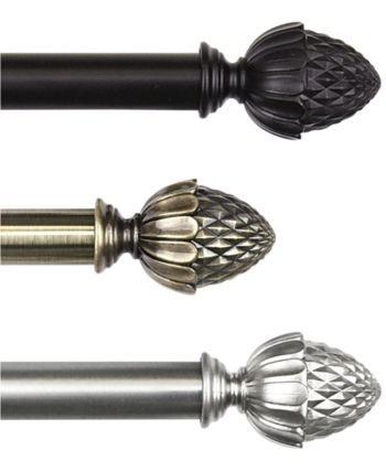 Rod Desyne Acorn Drapery Rod 0 8125 Diameter 48 84 Reviews
