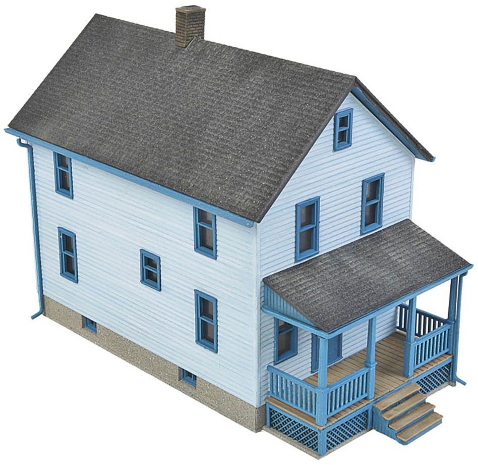 Walthers Cornerstone HO Scale Building/Structure Kit Two-Story Frame ...