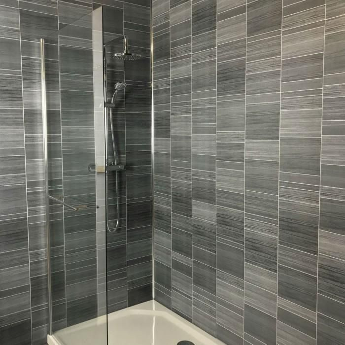 anthracite multi tile effect in 2020  bathroom wall