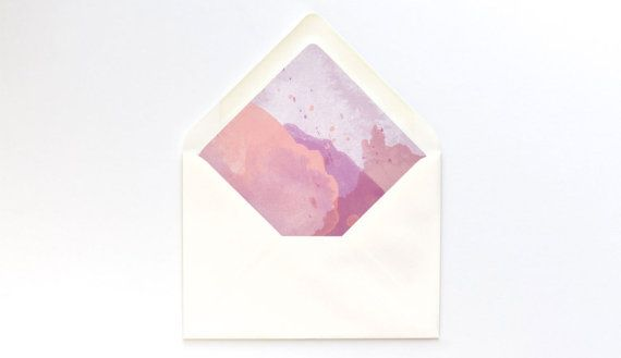 Pink Watercolor Envelope Liner Template  A Euro Flap  Diy