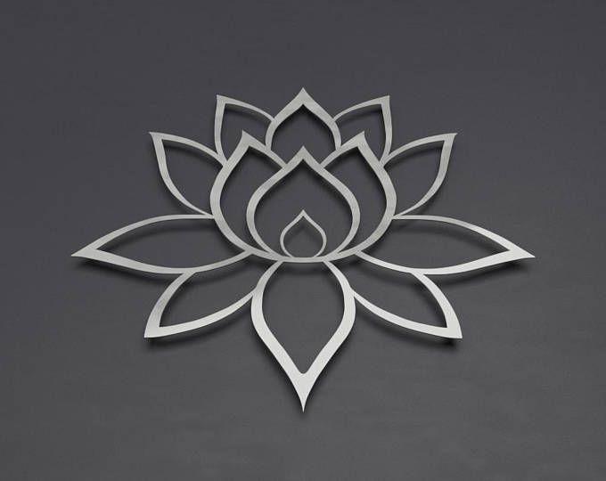 Brushed Lotus Flower Metal Wall Art, Lotus Metal Art ...
