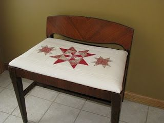 Re-covered hall chair