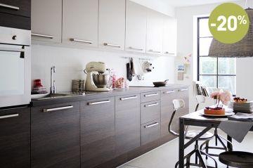 Cuisine Aero Taupe Mat En Promotion Chez Fly Thionville Et Metz - Fly plan de campagne pour idees de deco de cuisine