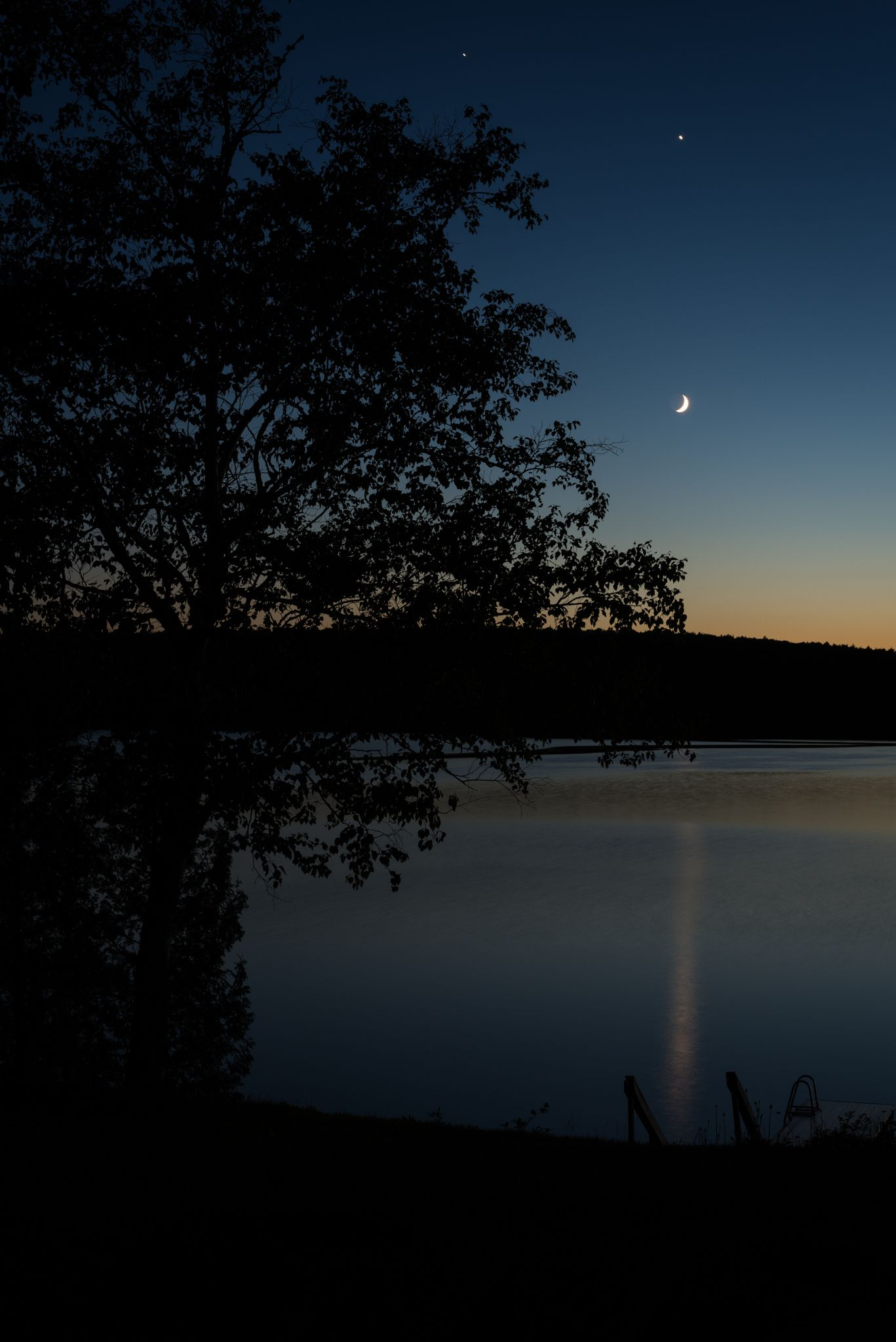 Crescent Moon Reflection on the Lake by Heather Mladek on 500px