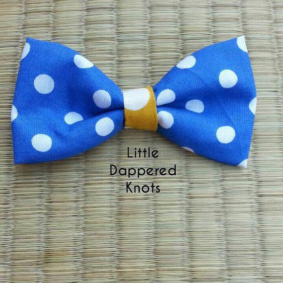 Blue bowtie for boys boys Bowties boys by LittleDapperedKnots