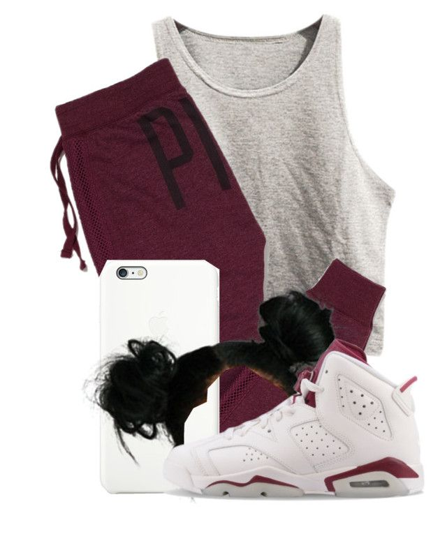 """Untitled #387"" by kayykayy15 ❤ liked on Polyvore featuring Victoria's Secret PINK and NIKE"