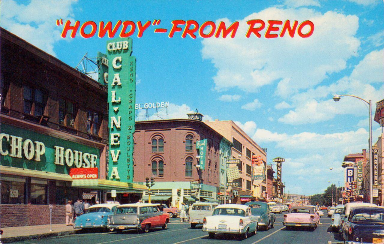 1950s Reno Cal Neva Reno nevada, Reno tahoe, Nevada