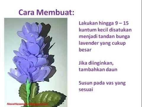 Cara Membuat Bunga Lavender Dari Kantong Plastik Bekas Dengan