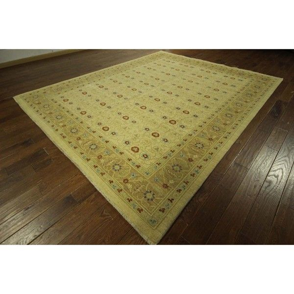 awesome Lovely Oushak Style Ivory Chobi Hand-knotted Floral Wool Area Rug (9' x 12', 9' x 10') Check more at http://yorugs.com/product/lovely-oushak-style-ivory-chobi-hand-knotted-floral-wool-area-rug-9-x-12-9-x-10/