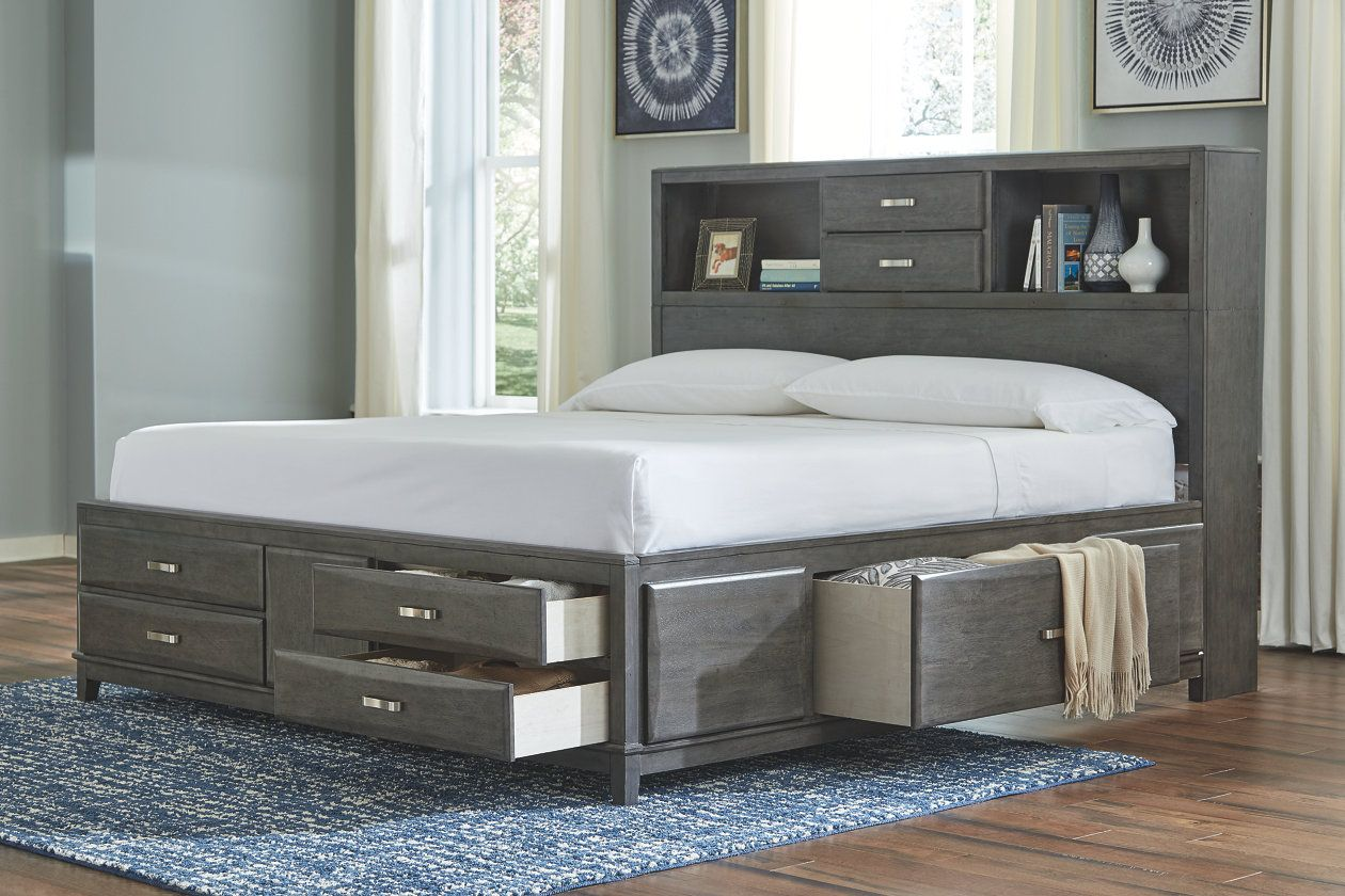 Caitbrook Queen Storage Bed Ashley Furniture Homestore King Storage Bed Bookcase Bed Platform Bed With Storage