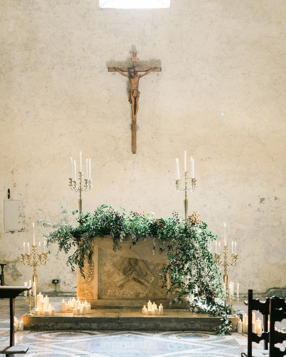 Church Wedding Decorations Ideas For Your Wedding In Italy: This Romantic Italian Wedding Features A Historic Venue
