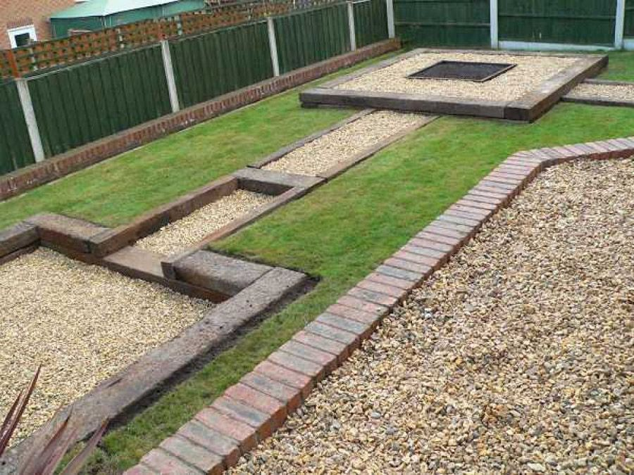 Garden Design Using Sleepers simon cunliffe's garden design with railway sleepers | lgb trains