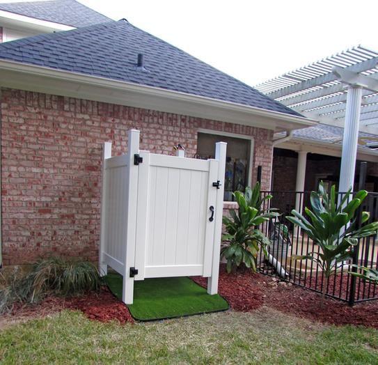 Gate And Floor Complete Outdoor Pool Bathroom Outdoor Shower Diy Backyard Decor
