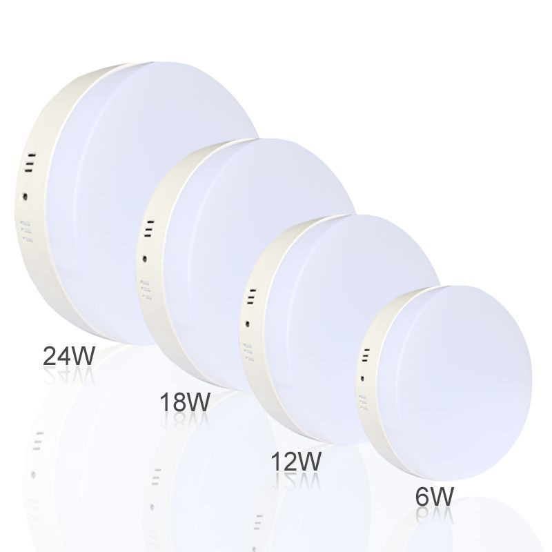 6w 12w 18w 24w Square Round Led Panel Light Surface Mounted Leds Downlight Ceiling Down 110 240v Lampada Led Lamp Led Led Panel Light Dimmable Led Downlights