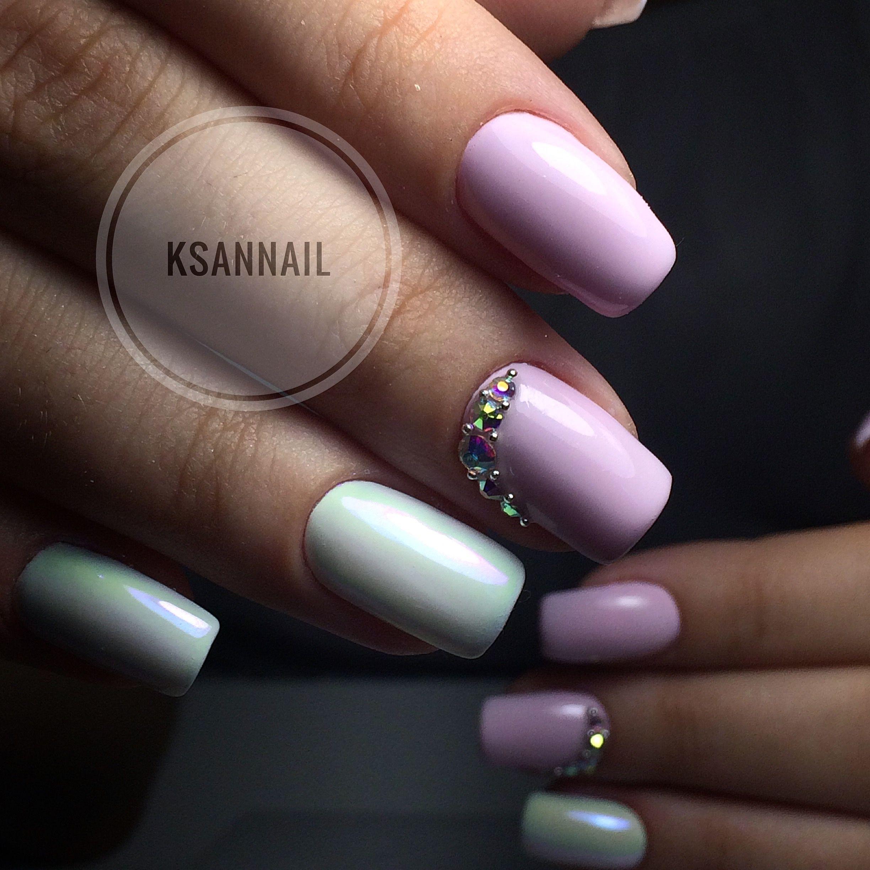 Розовые ,ногти,дизайн ногтей,стразы,втирка | Ногти. Мои ...