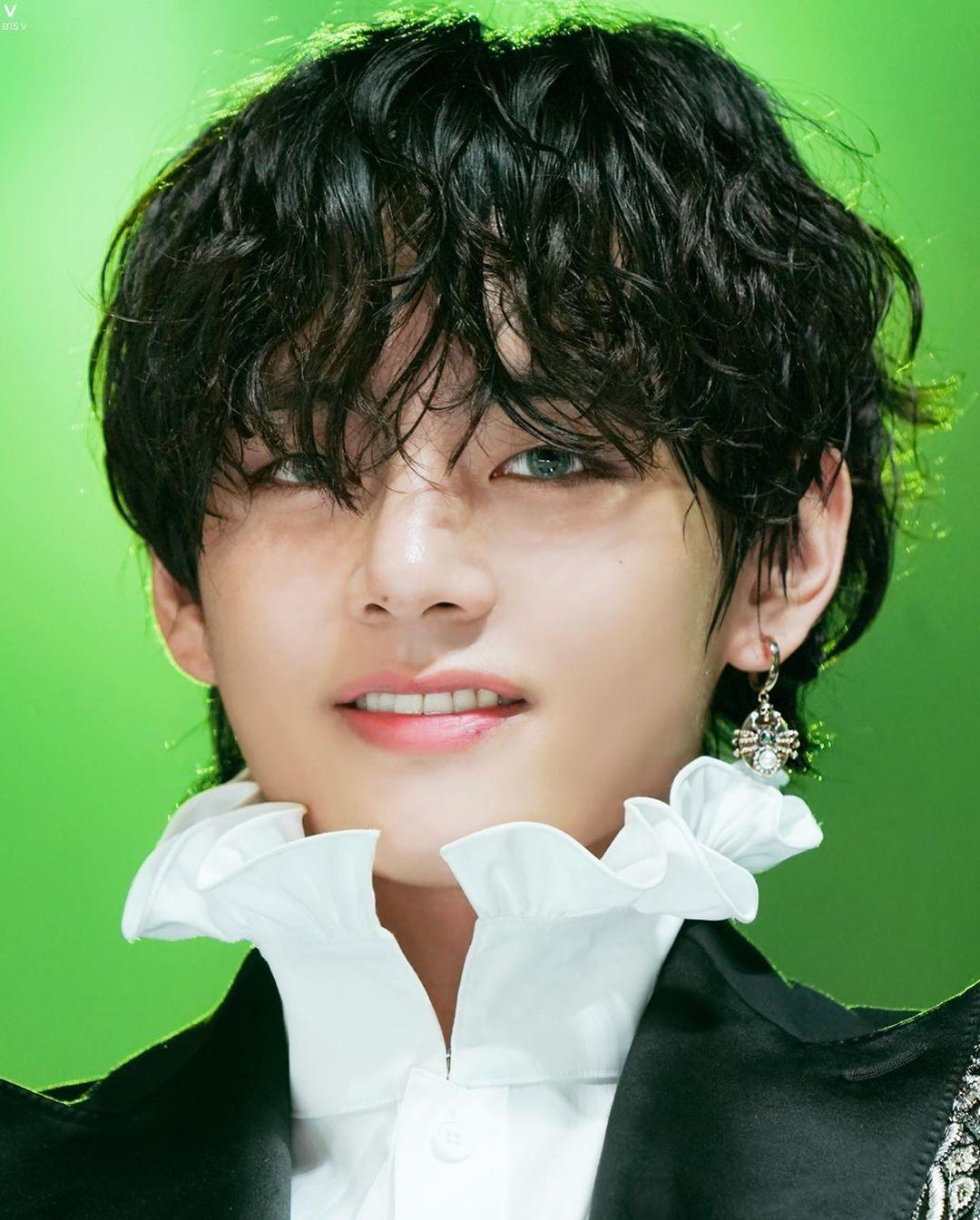 Taehyung Wearing Colored Contact Lenses Taehyung Kim Taehyung Bts Photo