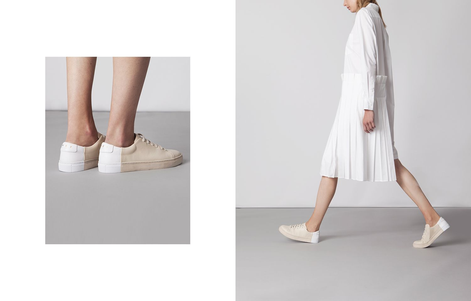 Two-tone Low in Beige-White - Shop Now