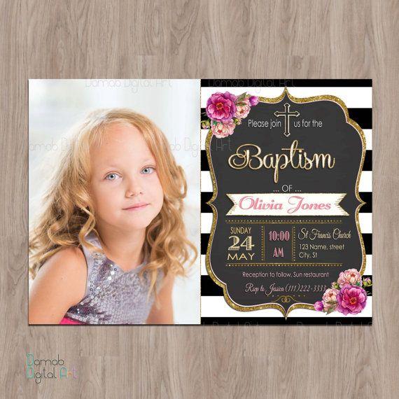 Baptism invitation girl photo, Baptism Invitation LDS, Baptism - invitation for baptism girl
