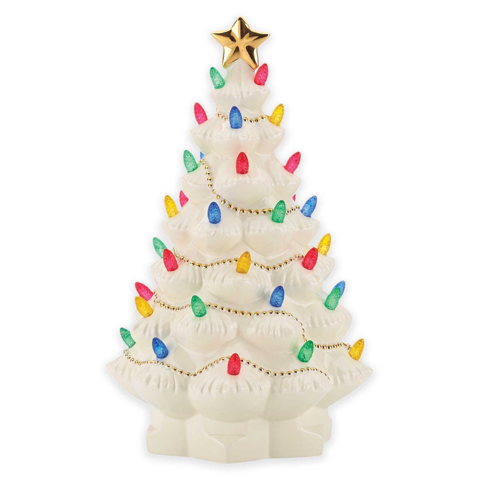 Lenox 174 Treasured Traditions Lighted Tree Figurine