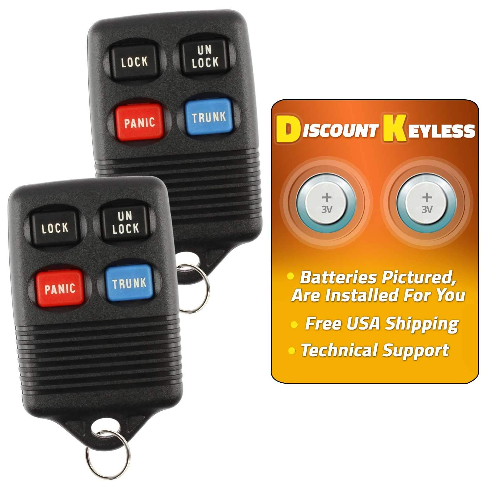 Discount keyless replacement trunk key fob car entry
