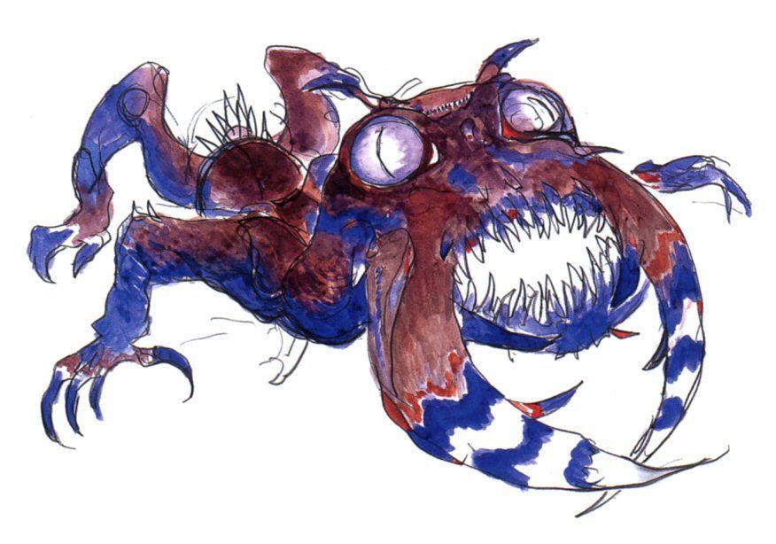 Final Fantasy IV - Antlion Concept Art - Yoshitaka Amano
