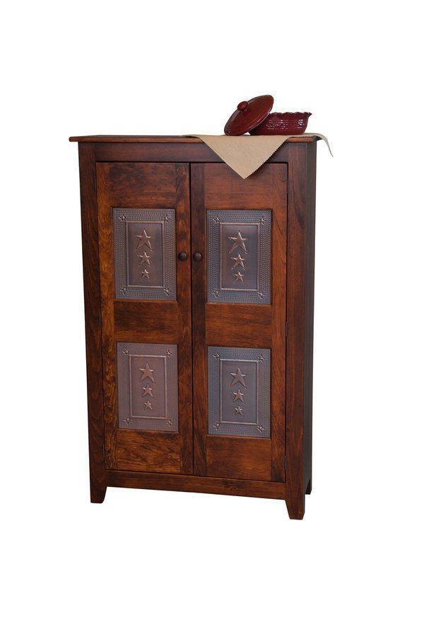 Custom Finished Handmade Amish Shaker Pie Safe Kitchen Cabinet Punched Tin Panel Pie Safe Antique Pie Safe Primitive Furniture