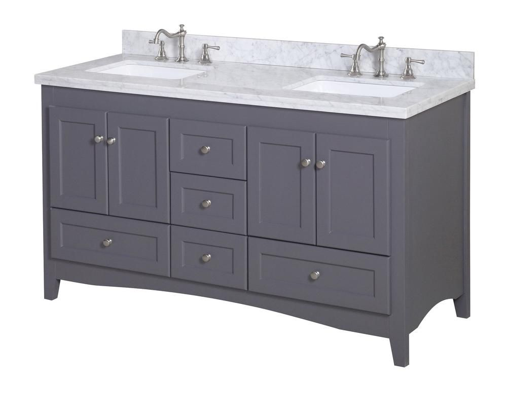 Virtu Usa Talisa 60 In W Bath Vanity In White With Marble Vanity Top In White With Square Basin Ed 25060 Wmsq Wh Nm The Home Depot In 2021 Marble Vanity Tops Vanity Virtu Usa
