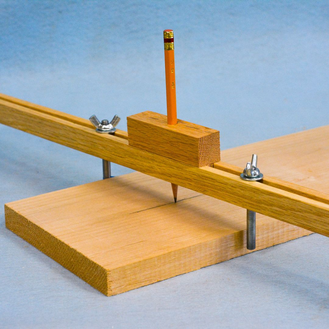 An Adjustable Center Finder Jig is the newest tutorial on Woodworkweb. #woodworking