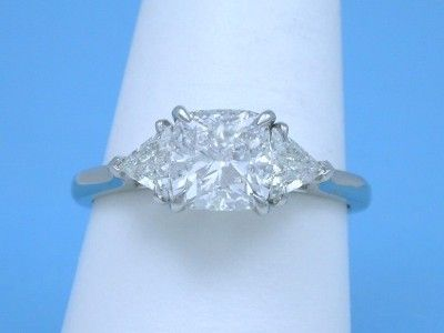 Cushion Cut Diamond With Trillion Side Stones Once Upon A Dream In