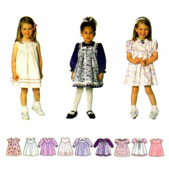 Toddler Girls Dress Simplicity 7398 Sewing Pattern | Sewing | Pinterest