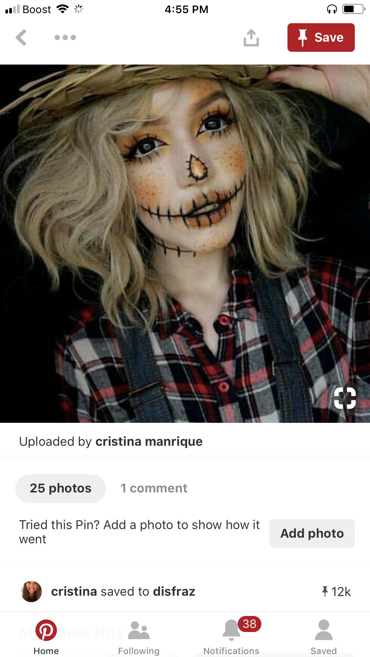 scarecrowmakeup in 2020 Scarecrow halloween makeup