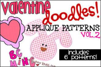 Valentine Doodles - Applique Patterns - Vol. 2   Crafts   YouCanMakeThis.com