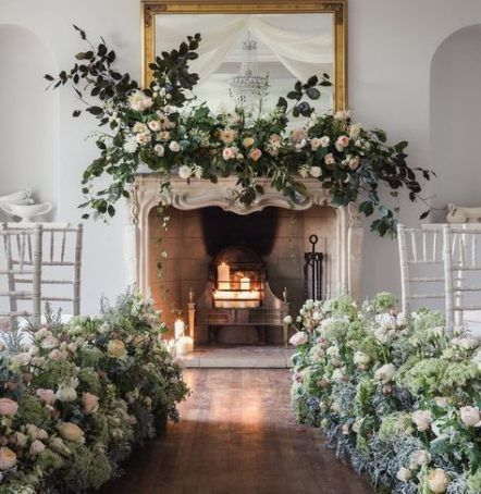 New wedding backdrop ceremony fireplace 58+ ideas wedding is part of Wedding fireplace -
