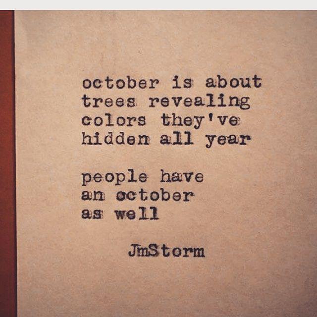 Hi October Poeme Et Citation Proverbes Et Citations Et Citation