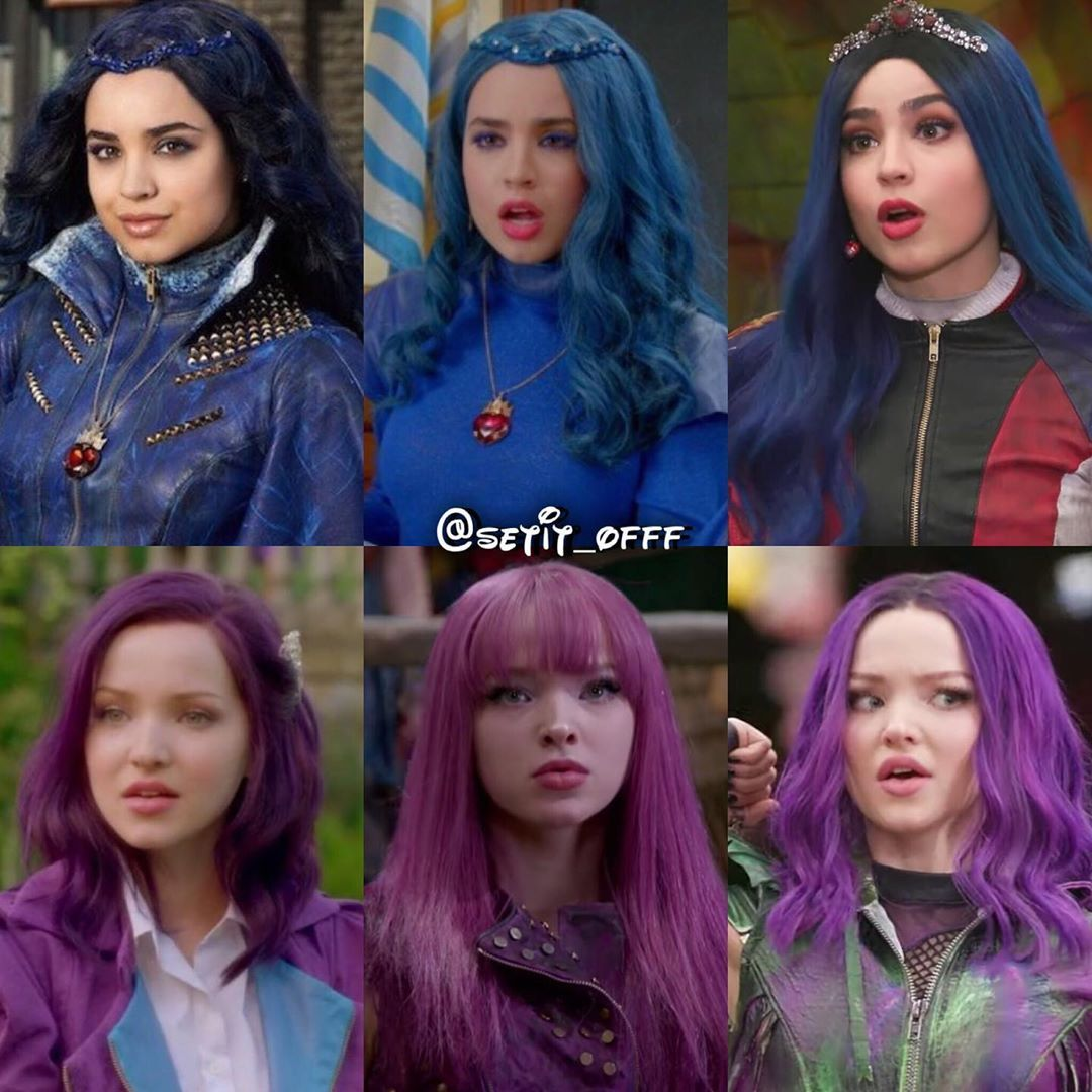 Mal and Evie in Descendants, Descendants 2, or Descendants 3? #descendants #mal #evie #wicked #rotten #evil #isle #auradon #descendants2… #descendants3