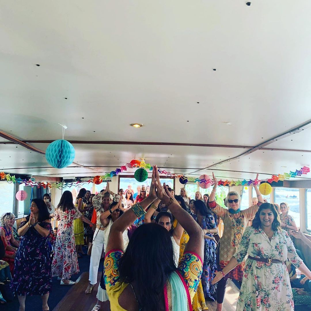60th birthday bollywood boat party in london these ladies