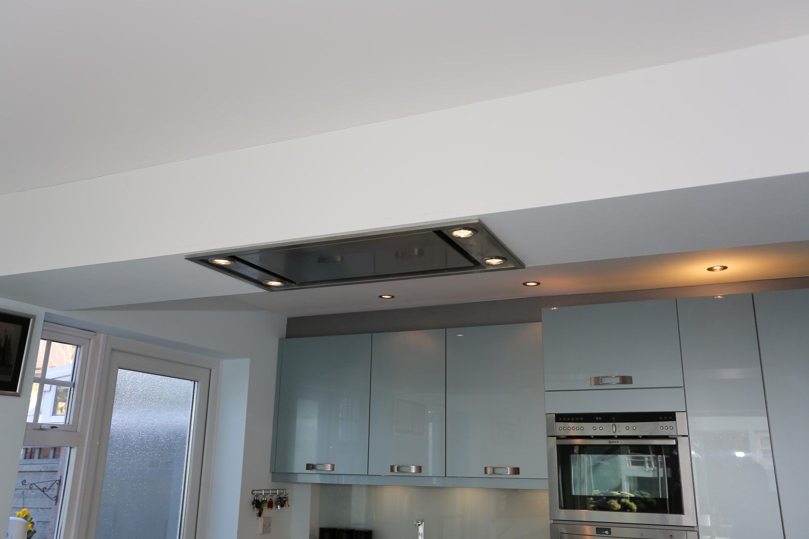 Kitchen Ceiling Extractor Fan : Ceiling extractor recessed into suspended