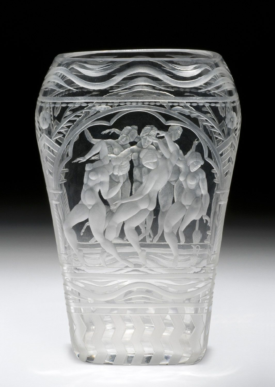 Philadelphia Museum Of Art Collections Object Vase Antique Art Scandinavian Art Glass Engraving