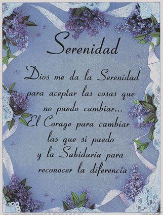 Serenity Prayer In Spanish Google Search Serenity Prayer In
