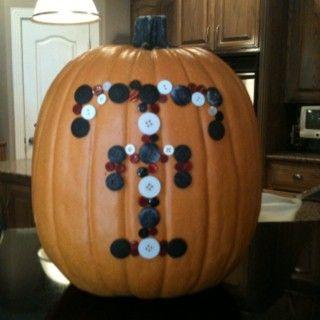 Texas Tech Button Pumpkin to go with my other TTU pumps:-)