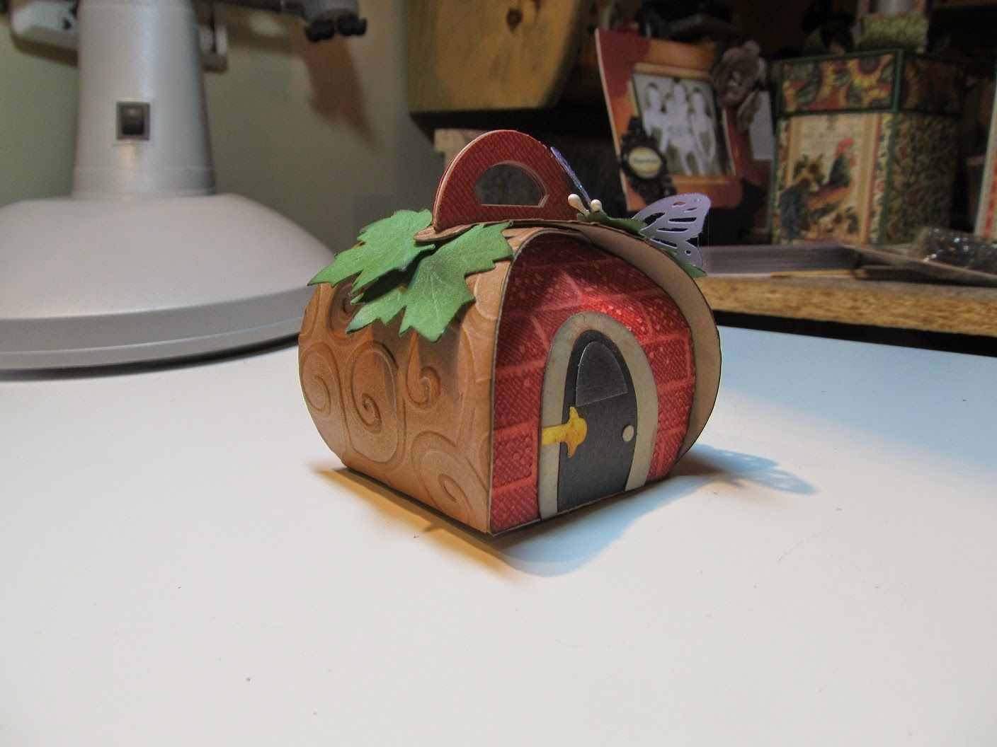 Fairy Garden House! (Calla Lily Studio Blog) is part of Big garden House - I have been playing with some of my new stuff from my order from Stampin Up! I love the Curvy Keepsake die! I have seen sooo many cute ideas from Pinterest  But it always reminded me of a Fairy Ho