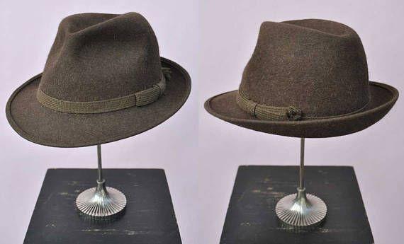 af77ea484 Vintage Brown Felt Trilby Fedora Hat by Herbert Johnson UK 6 at ...