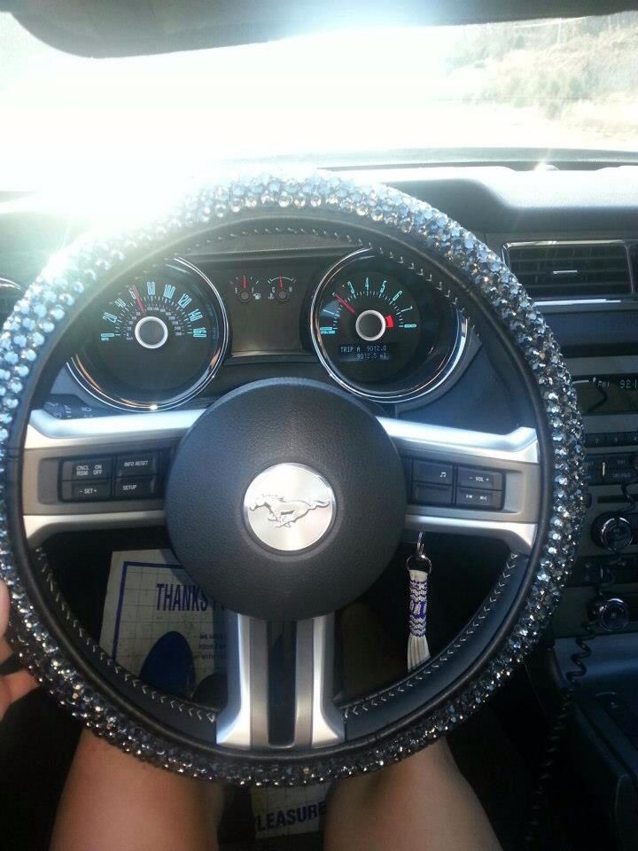 Bling Steering Wheel Cover Girly Car Accessories Car