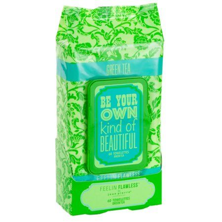 Jean Pierre Feelin Flawless Cleansing Wipes, Green Tea, 60