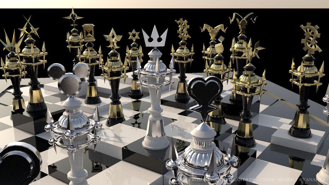 ヤナアリ — Kingdom Hearts III Chess Board Yay! I finally have