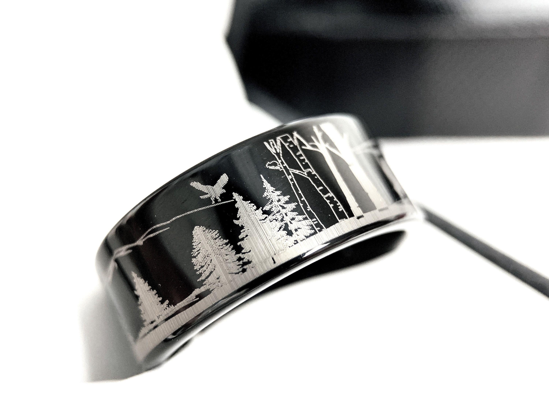 Men's Wedding Band, Mens Tungsten Ring, Custom Designed